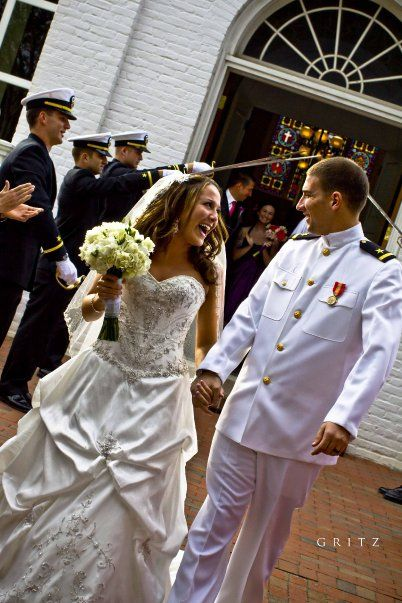 #wedding #Military love the top of her dress!!