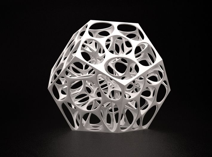 Voronoi Dodecahedron 3d printed
