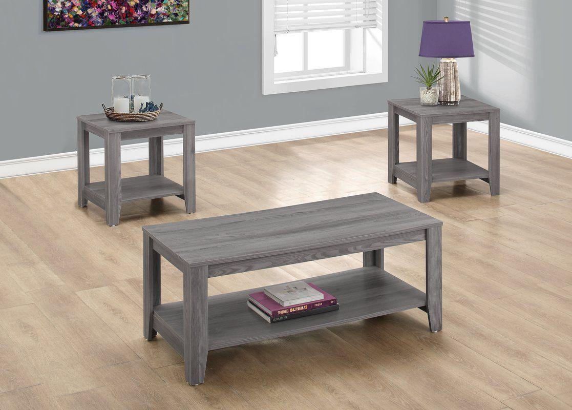 Bulma 3 Piece Coffee Table Set Coffee Table Coffee Table Rectangle Living Room Table Sets