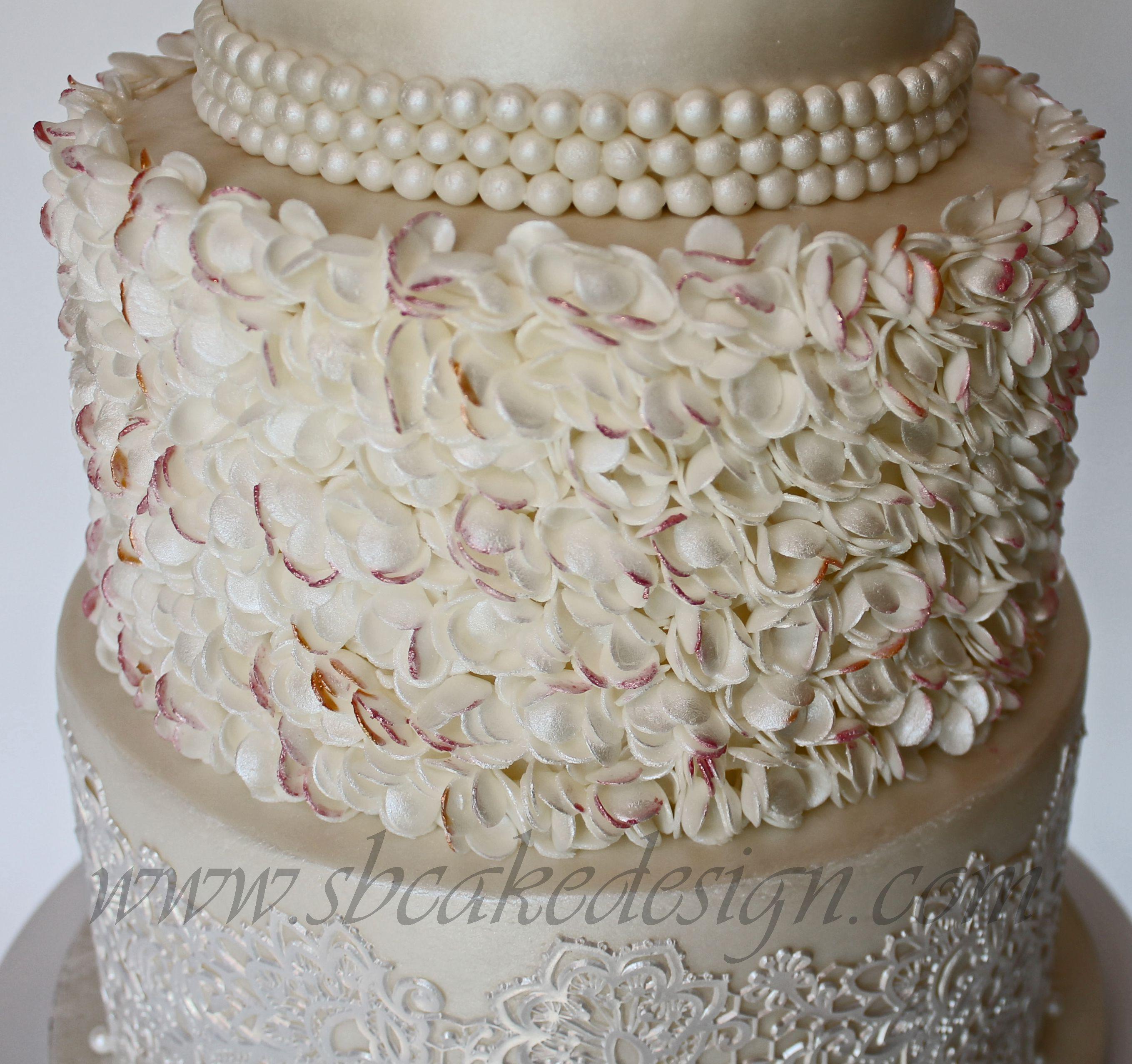 Shannon Bond Cake Design Petal Ruffle Wedding Cake www