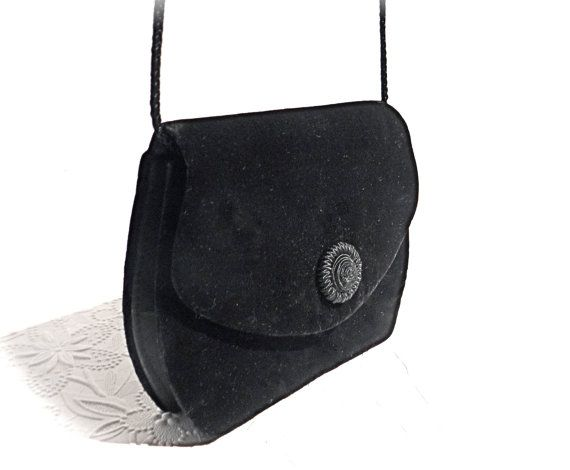 7a7a06331be Vintage Black Velvet Hand Bag Black Evening Bag Accessories VH-171 ...