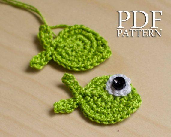 Crochet Pattern PDF Applique Fish