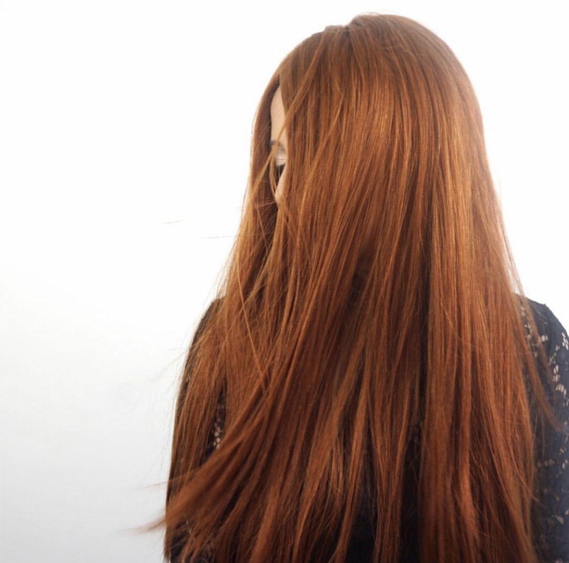 Our newest shade vibrant auburn tressmirage hair extensions hair