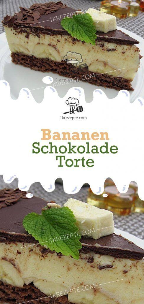 Bananen – Schokolade – Torte #bananapie