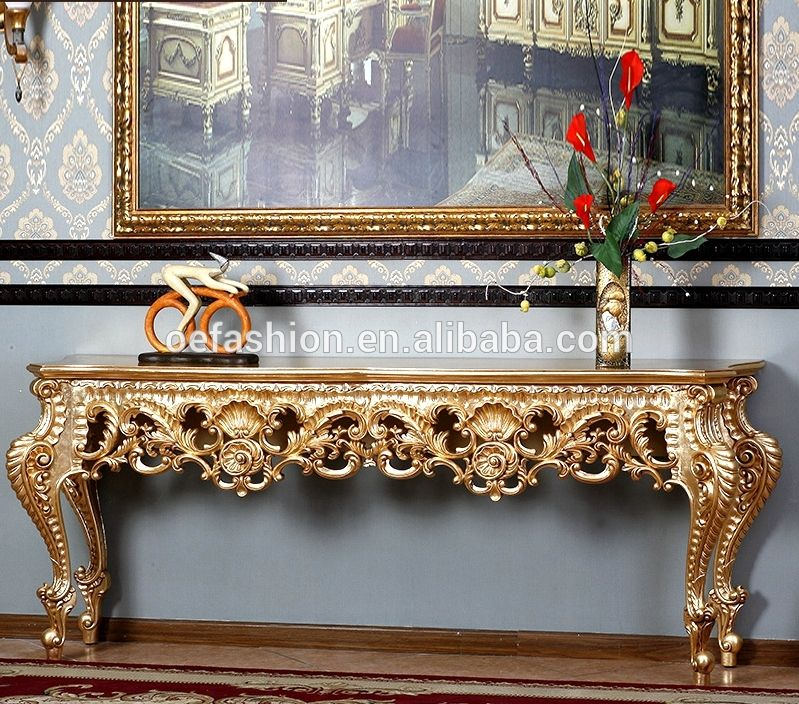 Antique Wooden Console Table Living Room Luxury Traditional Royal Palace Console Table Home Console Table Living Room Luxury Console Traditional Console Tables