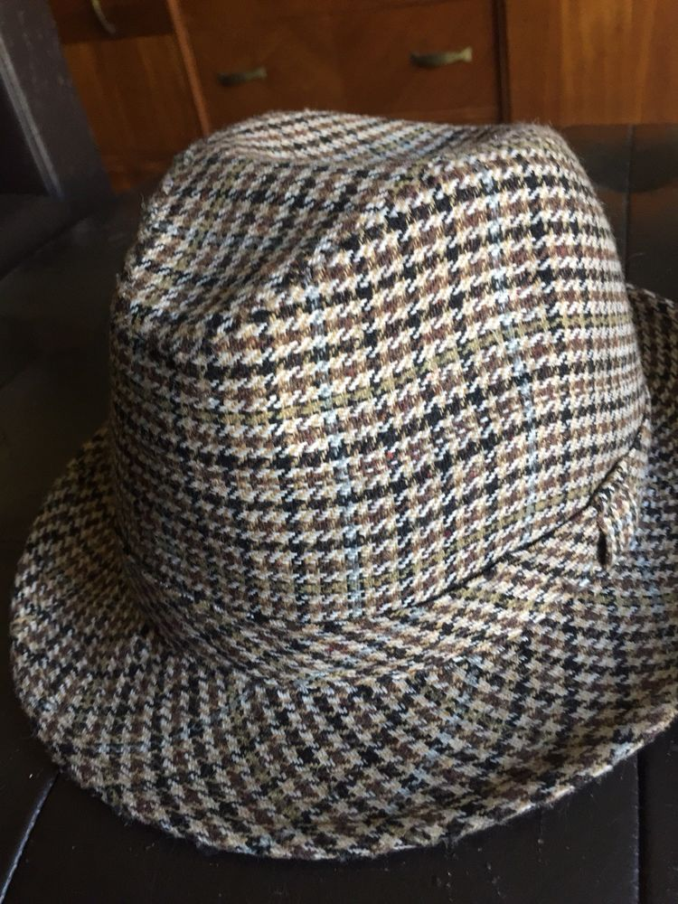 Fedora Mens Hat San Diego Hat Company EUC Houndstooth Size 8  fashion   clothing  shoes  accessories  mensaccessories  hats (ebay link) 6ea400ba0af