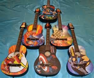 """Peavey """"DC Comics"""" and """"Marvel Comics"""" acoustic guitars"""