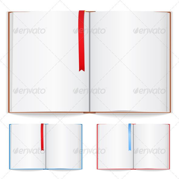 Open Book accessories, back, blank, book, bookmark, business - blank memo template