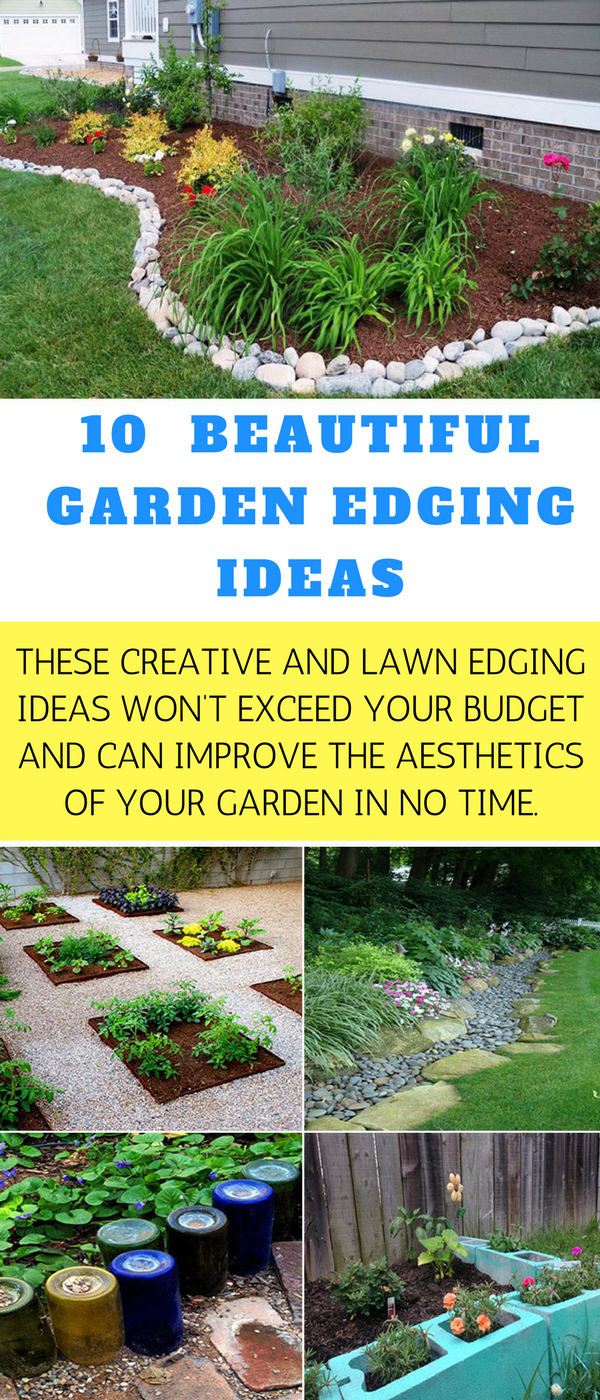 Increase the beauty of your lawn by adding garden edging that works ...