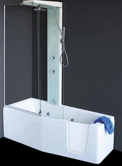 VASCA CON SPORTELLO + BOX DOCCIA Box doccia, Bagno caldo