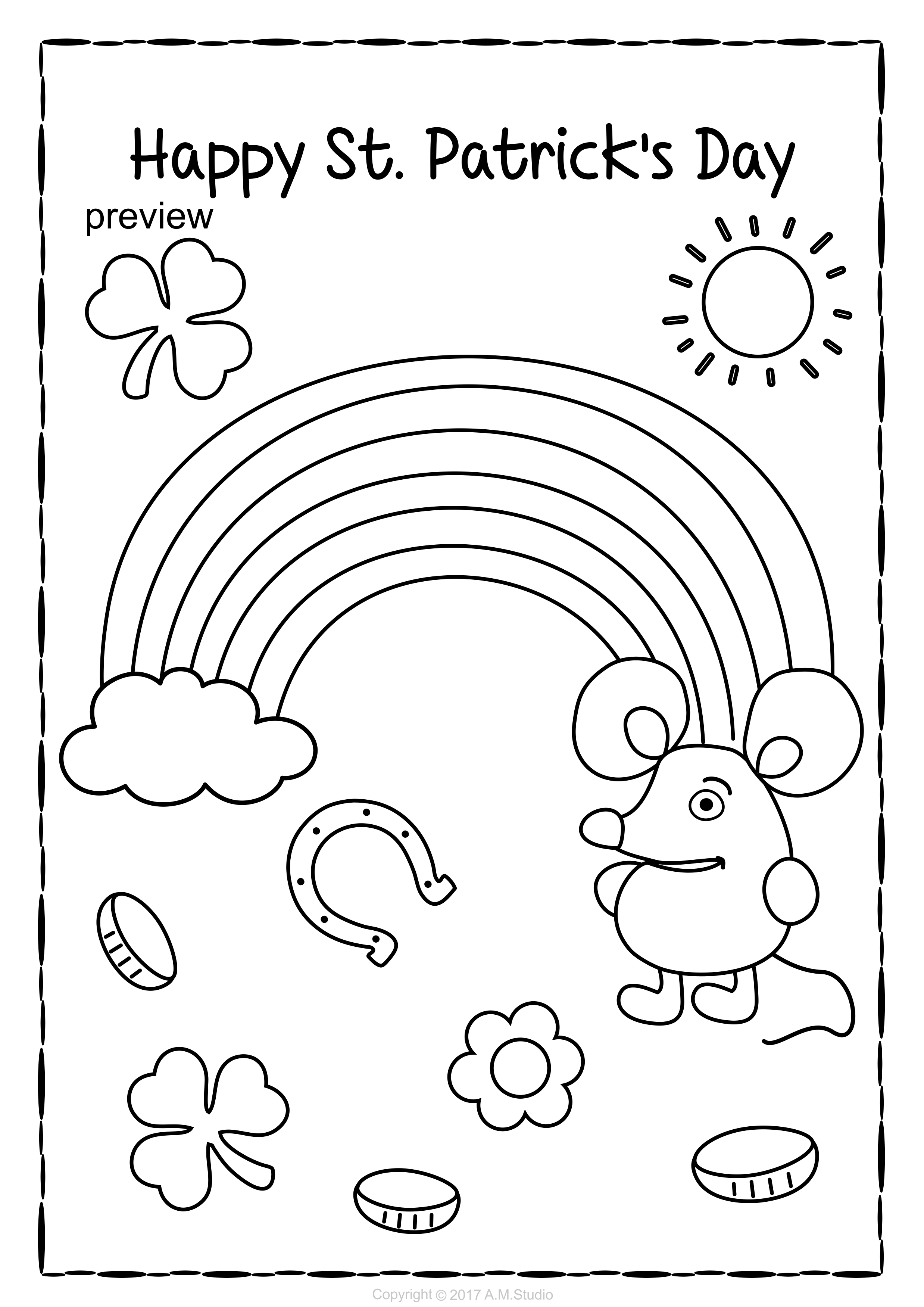 St Patrick S Day Coloring Pages Coloring Pages Color Spring Colors [ 3501 x 2476 Pixel ]