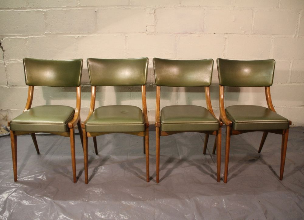 4 X Ben Chair Vinyl Retro Vintage 60s Dining Chair Teak Bentwood Compass  Legs In Home, Furniture U0026 DIY, Furniture, Chairs | EBay