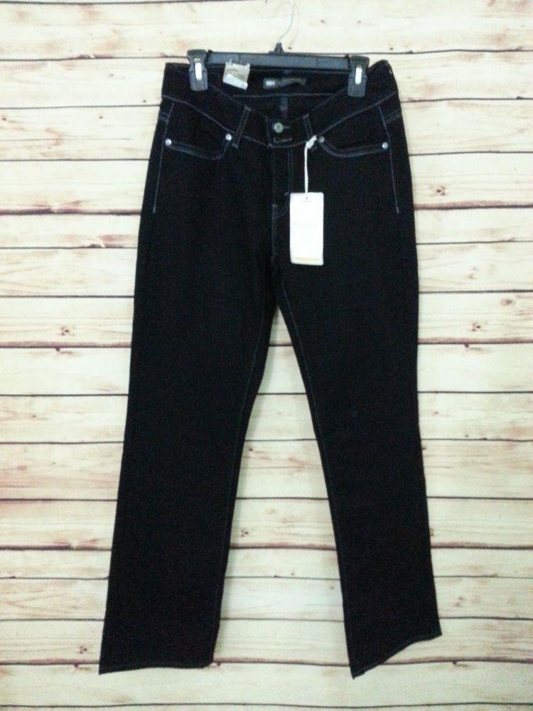 93bcd0559ec NWT Levi s Jeans 529 Curvy Straight Leg womens size 10M black stretch  Levis   CurvyStraightLeg