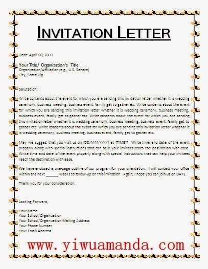 Yiwu Amanda Invitation Letter For Visa To Yiwu  Places To Visit