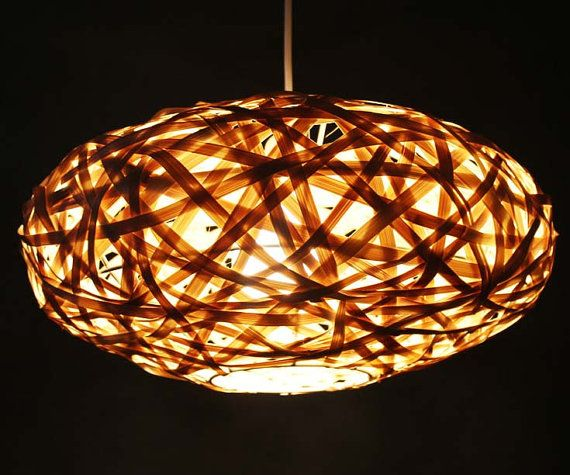 Bamboo Winding Oval Pendant Lamp Pendant Lighting Bamboo Lamp Home
