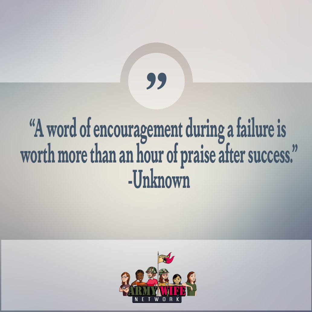 After Hour Quotes A Word Of Encouragment During A Failure Is Worth More Than An Hour