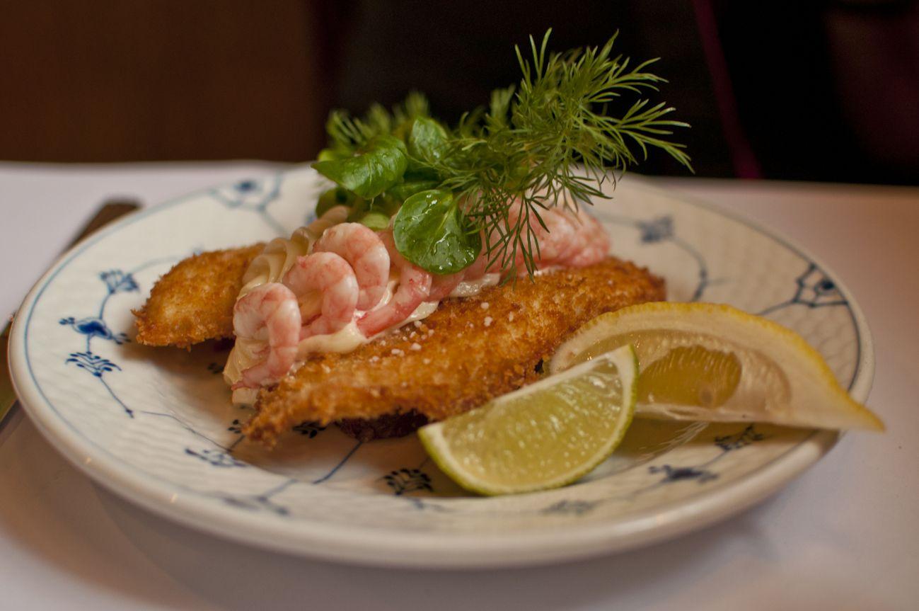 Fiskefilet på Restaurant Schønneman i København. From Ole Troelsø's Insider's Guide to Smørrebrød.