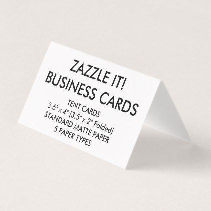 Custom Personalized Folded Tent Business Cards Paper Gifts