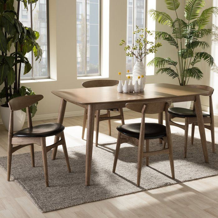 An Inviting Design That Shifts Shape To Suit The Occasion The Napoleon Mid Century M Midcentury Modern Dining Table Modern Dining Room Set Modern Dining Table