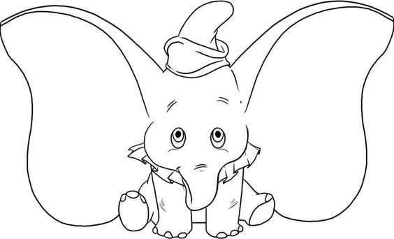 Free Printable Elephant Coloring Pages For Kids Elephant Drawing Elephant Coloring Page Disney Drawings