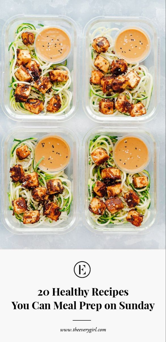 20 Healthy Recipes You Can Meal Prep on Sunday