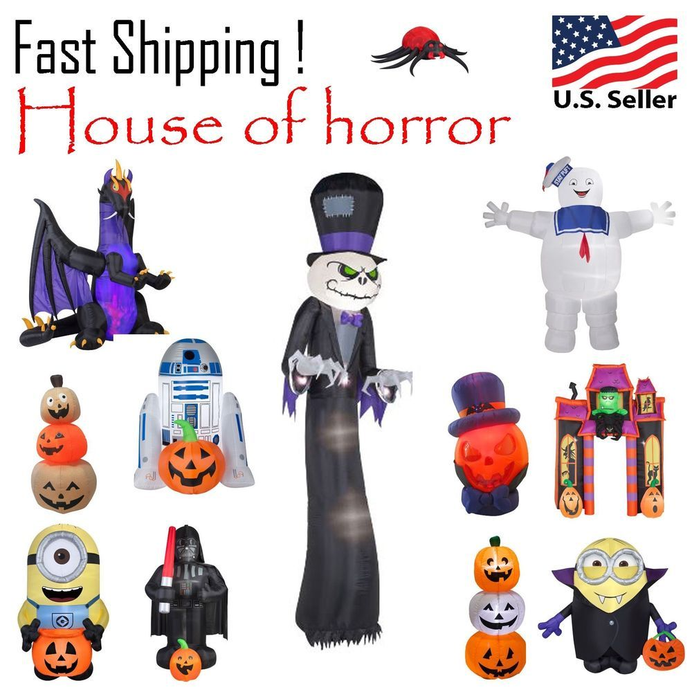 Halloween Inflatable Airblow House of Horror Set #GemmyDelete3HolidayLiving