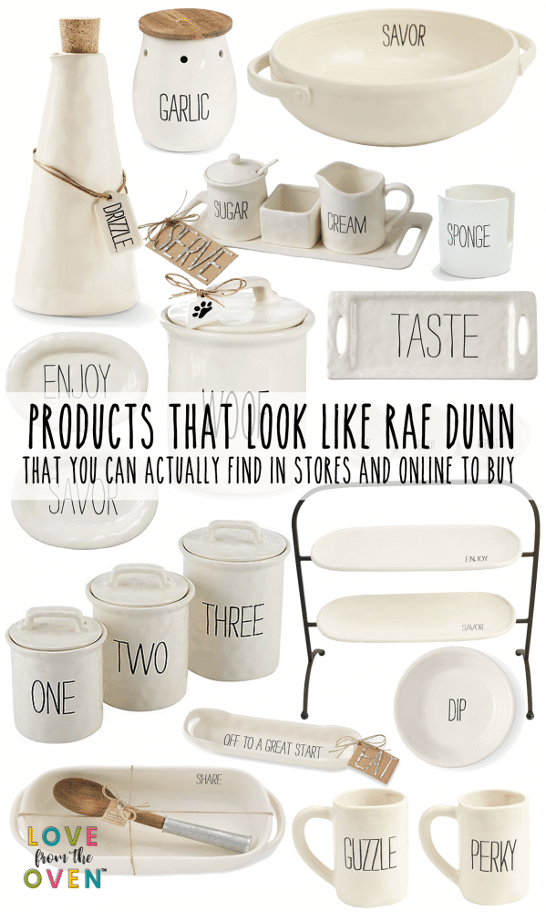 Cute products that look like Rae Dunn that you can