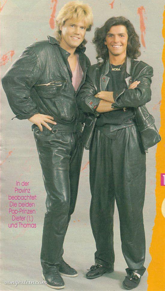 Dieter Und Thomas Ganz In Leder 80er Jahre Outfit 80er Jahre Mode 80er Partyoutfit