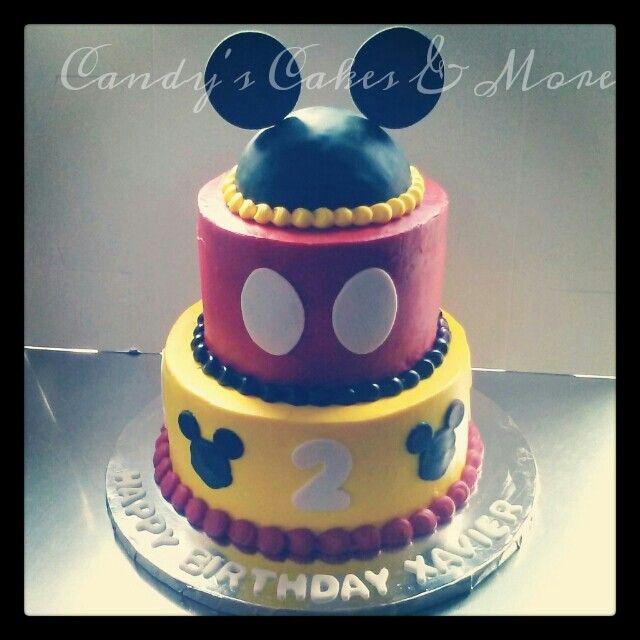 Marvelous Mickey Mouse Cake All Buttercream Birthday Desserts Birthday Funny Birthday Cards Online Elaedamsfinfo