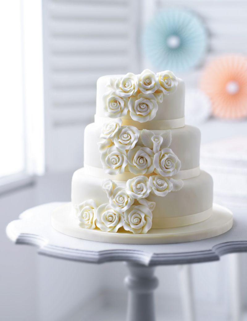 Classic rose chocolate wedding cake ms wedding cake