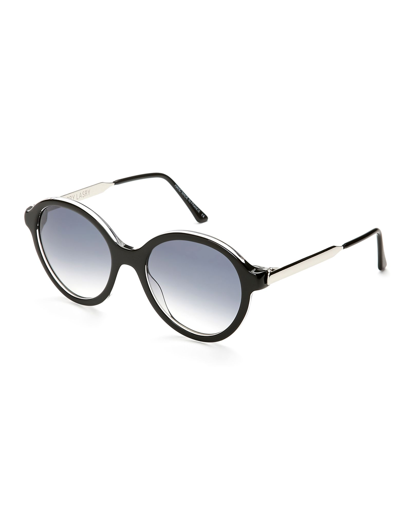 Thierry Lasry Black Lingery Round Sunglasses