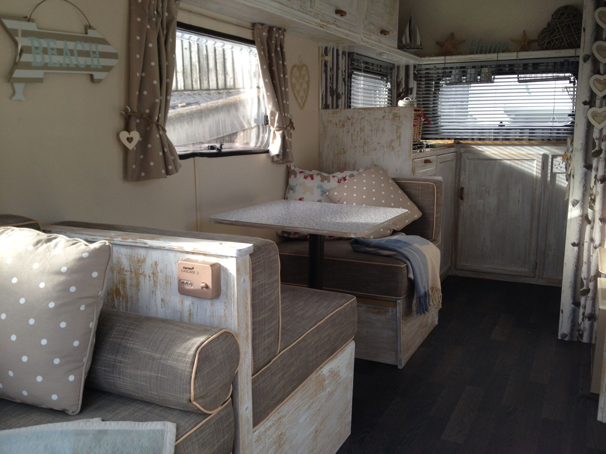 the flooring was finally fitted this week caravan revamp almost complete barn ideas. Black Bedroom Furniture Sets. Home Design Ideas