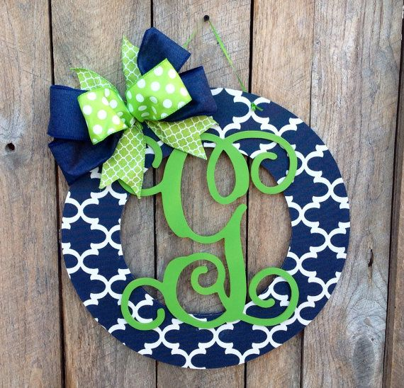 Front Door Sign Door Hanger Monogrammed Gifts Decorative Letters Wedding Present
