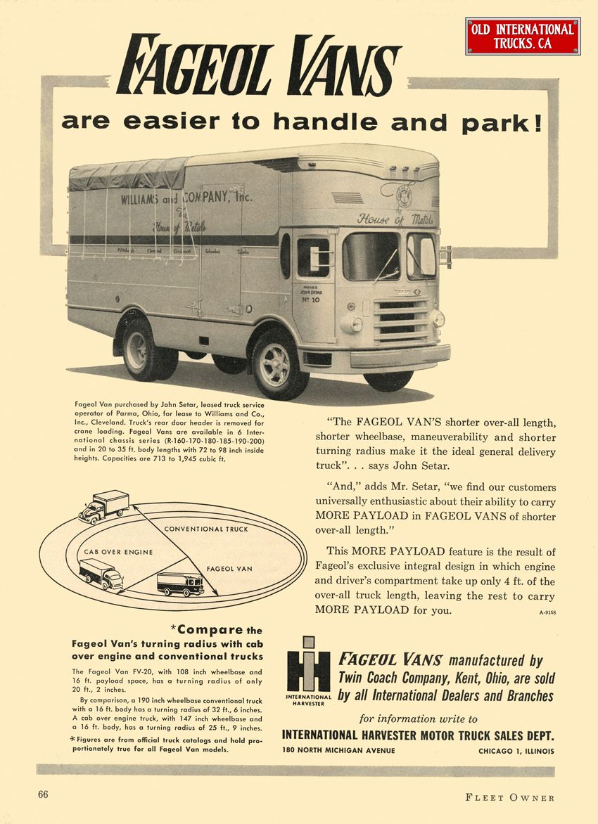 1955 International R -160 with Fageol Vans | buses & trucks #1