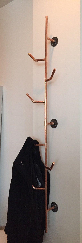 HANG IT Copper Pipe Coat Rack 40 Series Von Cu40design Auf Etsy Awesome Pipe Coat Rack