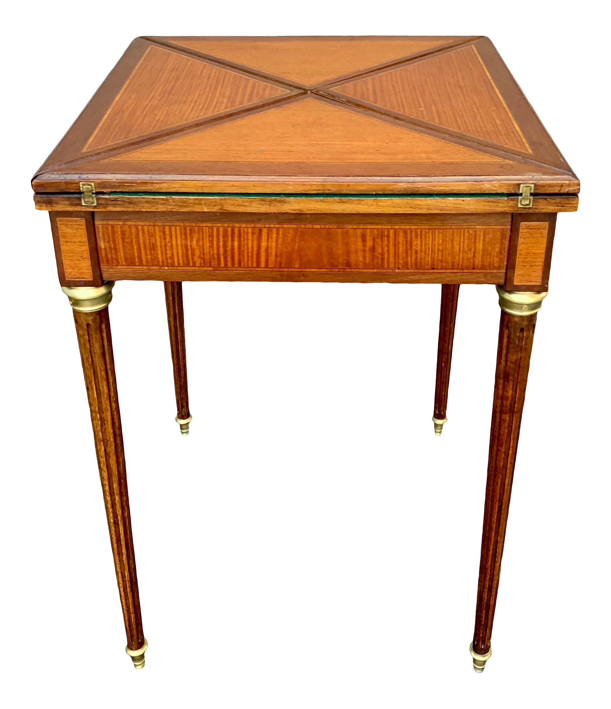 19th Century French Envelope Folding Card Table In The Manor Of Paul Sormani In 2020 Table Cards Table Table Games