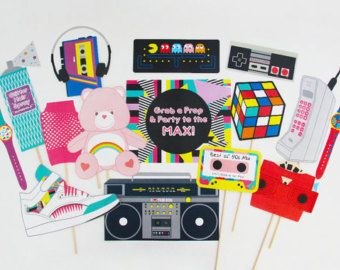 90s Party Decorations 90s Party Photo Booth Props 90s Banner 90er