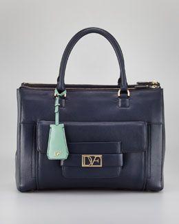V1DY1 Diane von Furstenberg Eva Compartmentalized Satchel Bag, Twilight