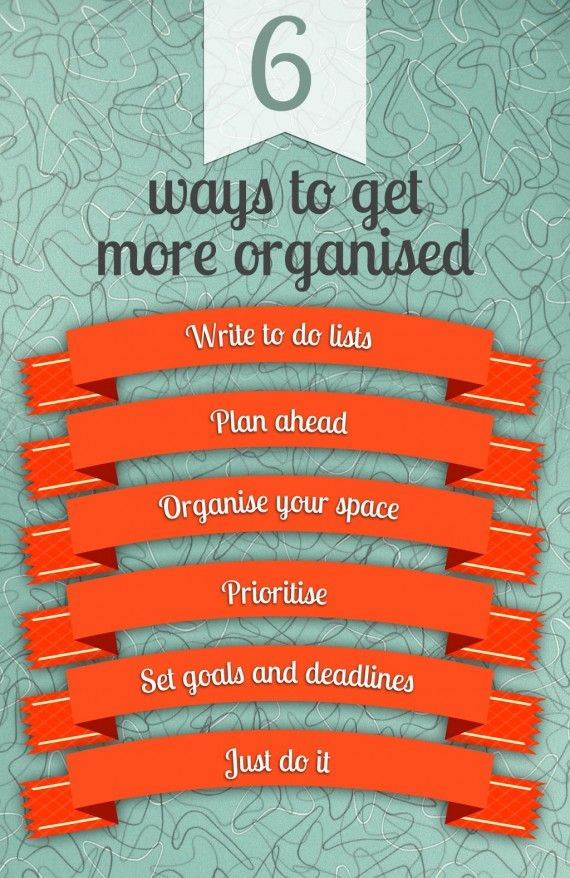 Image result for be more organised