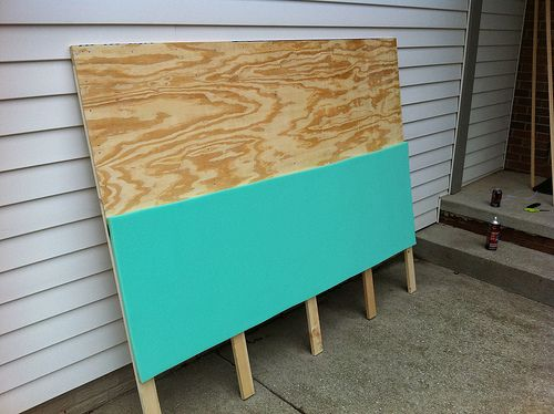mint timber | Plywood headboard diy, Headboard makeover ...