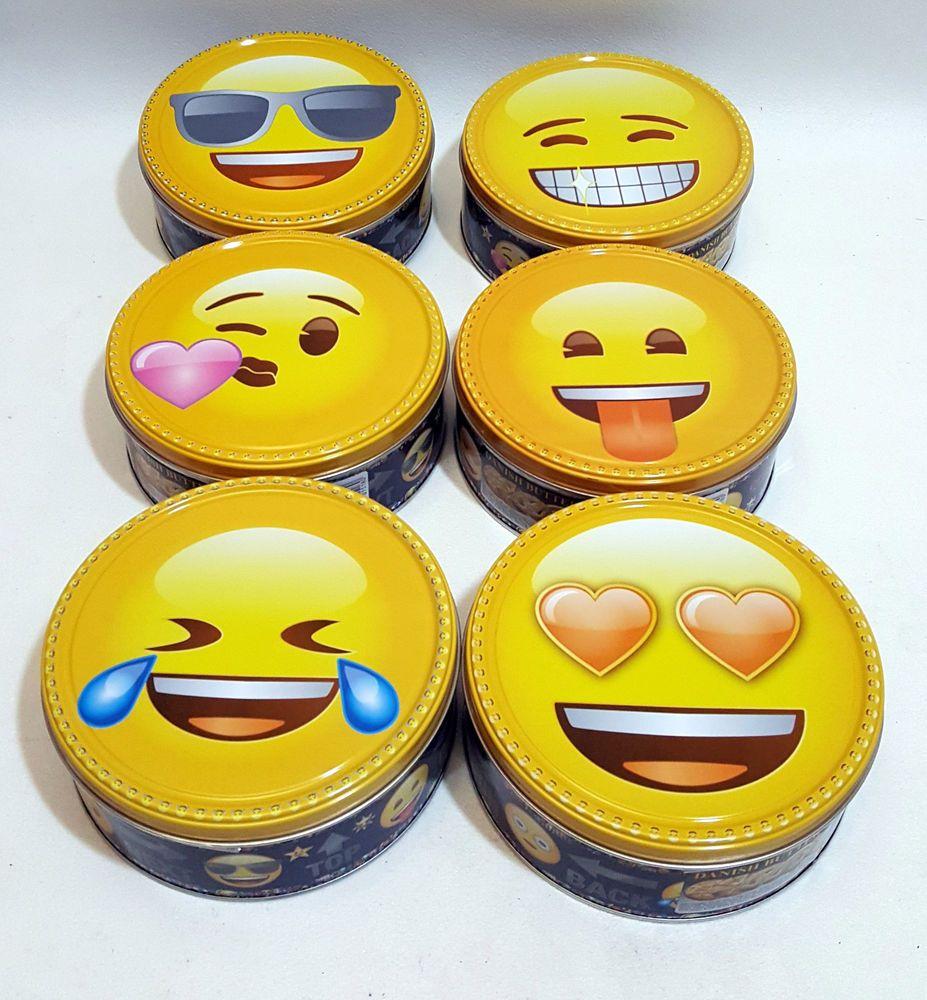 150g Danish Tasty Cookies Biscuits In Keepsake Gift Tin Emoji Tin