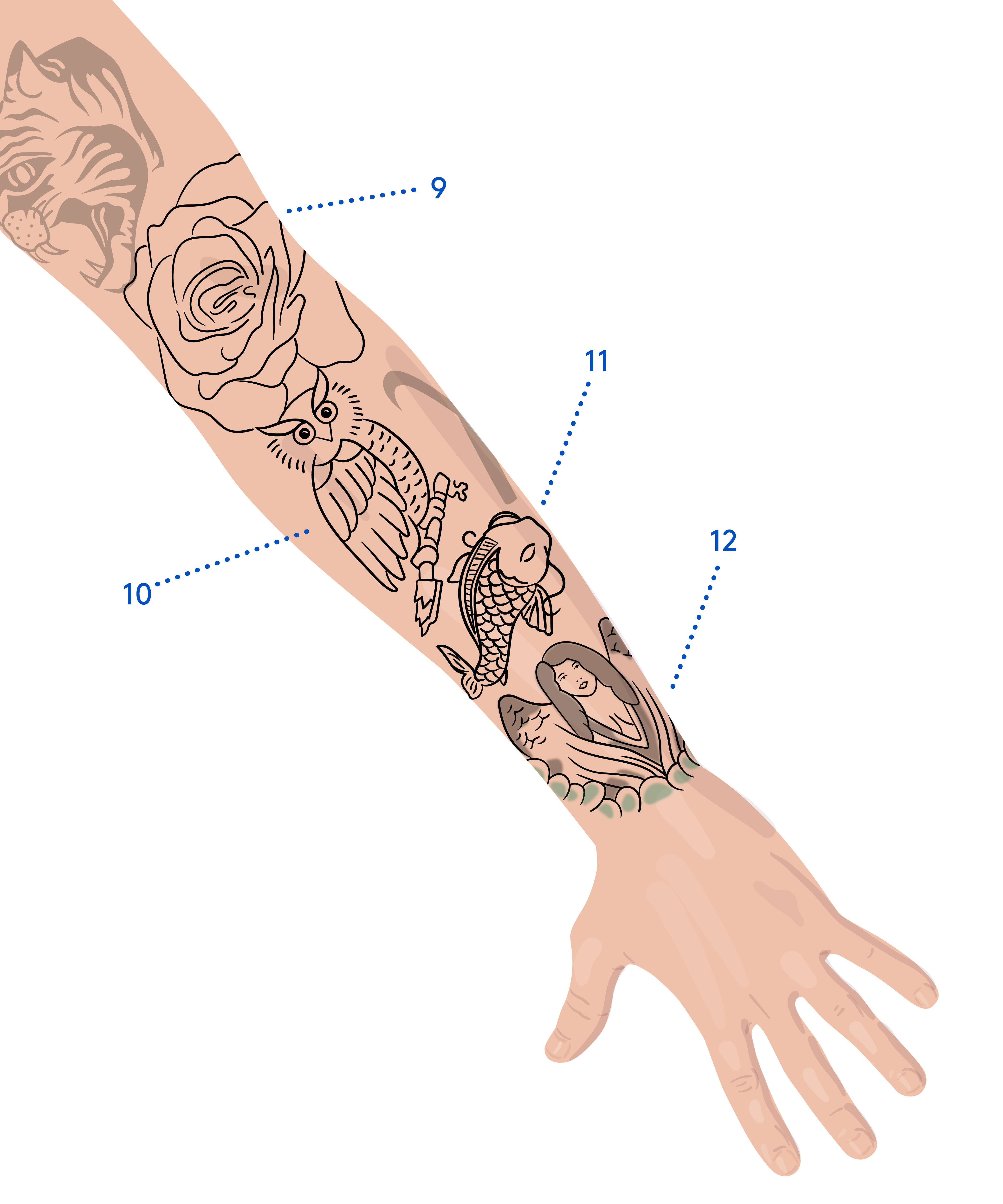 We Mapped Out Justin Bieber's Massive Tattoo Collection