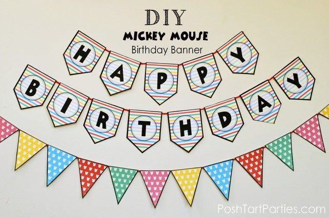 a mickey and minnie mouse party free printable happy birthday