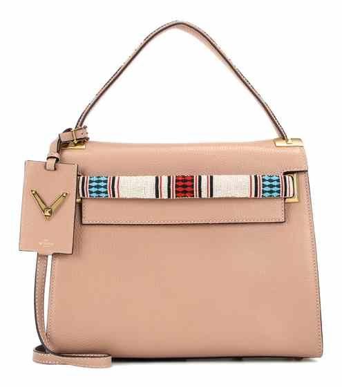My Rockstud embellished leather shoulder bag | Valentino