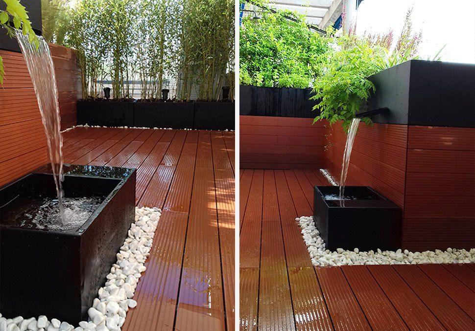 Fuente para jardin de la habitaci n verde paisajistas susurros de agua fuentes jardin - Fuentes para terraza ...