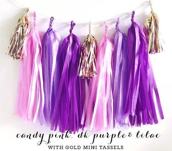 The 20 Year Wedding March: Purple Baby Shower Banner Purple Baby Shower Decor Pink