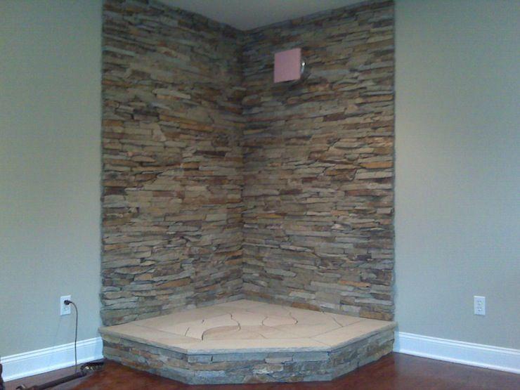 image detail for new stone wall where wood burning stove will sit - Wood Stove Backsplash