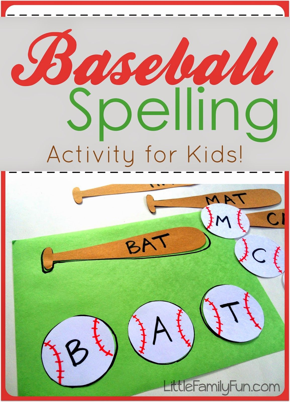 Sports Theme Kindergarten Worksheet