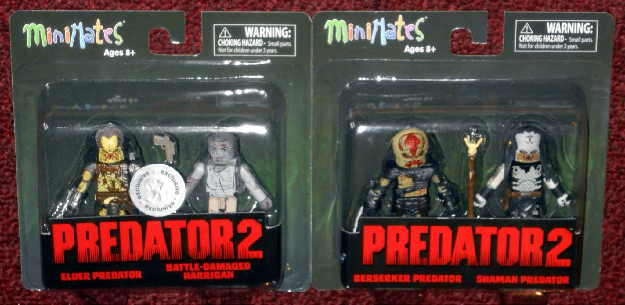 Predator Minimates TRU Toys R Us Wave 2 Elder Predator /& Battle Damaged Harrigan
