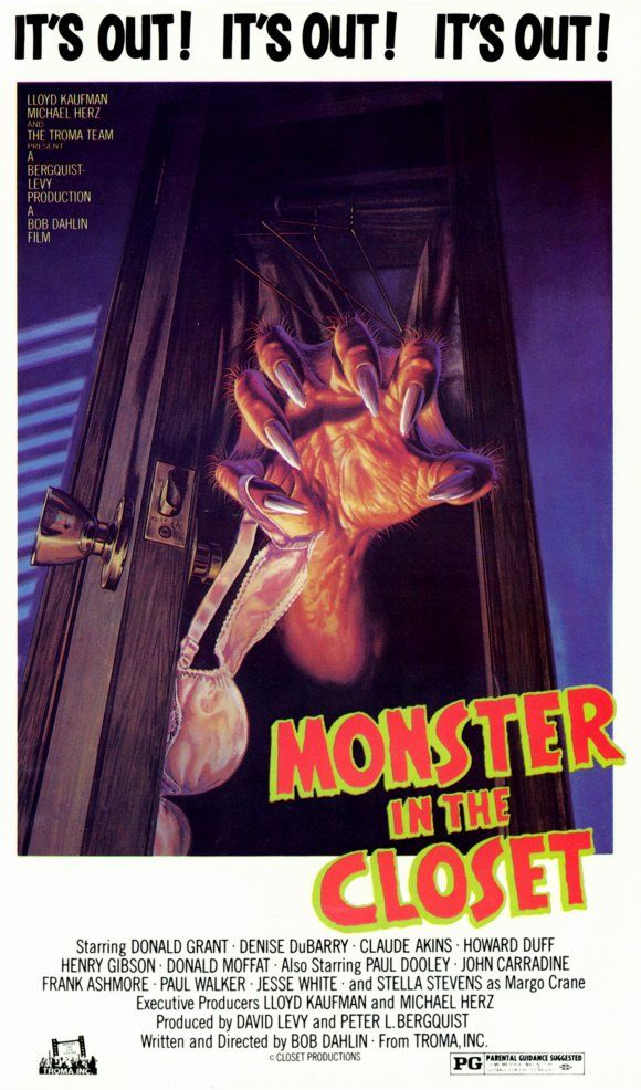 Monster in the Closet (1986) Horror movie posters